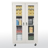 expanded metal front trtansport mobile storage cabinet