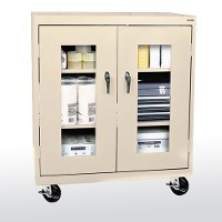 transport mobile cleaview counter height storage cabinet