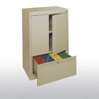 counter height storage with file drawer