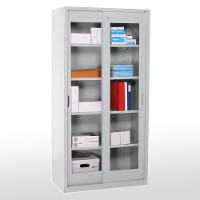 Sliding door cleaview storage cabinet