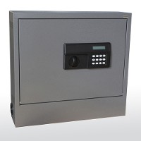 Wall-mount laptop safe cabinet