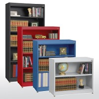 Radius edge bookcases