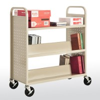 5 combination (top flat) shelf booktruck