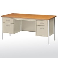 Steel double pedestal desk