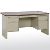 HD double pedestal teachers desk