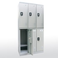 Snapit double-tier lockers 3 wide
