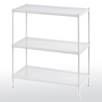 Perforated steel shelving - 3 tier