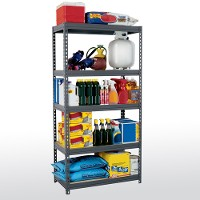 Boltless steel shelving - 5 level