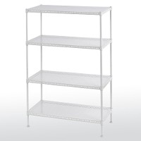 Perforated steel shelving - 4 tier