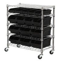 Mobile bin shelving unit