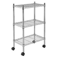 Mobile wire shelving - 3 tier