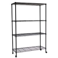 Mobile wire shelving - 4 tier