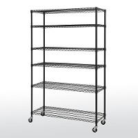 Mobile wire shelving - 6 tier