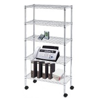 Mobile wire shelving - 5 tier