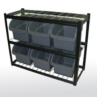 Bins shelving unit