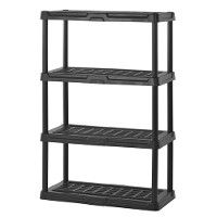 4-tier plastic shelving unit