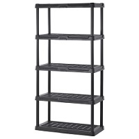 5-tier plastic shelving unit