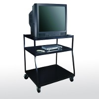 Wide body tv monitor cart