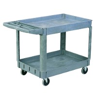 2 shelf plastic utility cart