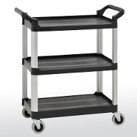 3 tier plastic utility cart