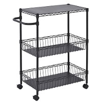 Black wire basket cart