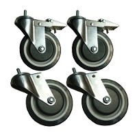 Casters (5 in.) for heavy duty wire shelving