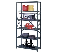 Welded open shelving