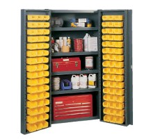 Pocket door cabinet 38 wide with 96 bins
