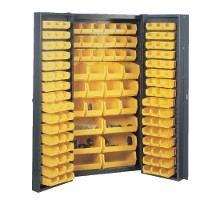 Pocket door cabinet 38 wide with 132 bins