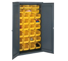 Welded flush door cabinets w bins