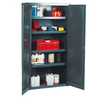 Welded flush door cabinets