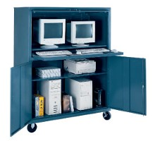 Extra wide computer cabinet