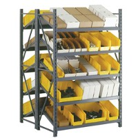 Welded frame in-line shelving